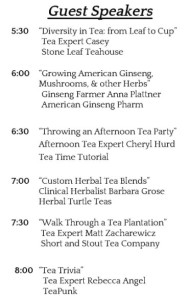 Albany Tea Fest Speakers